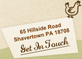 Get In Touch: 65 Hillside Road - Shavertown PA 18708